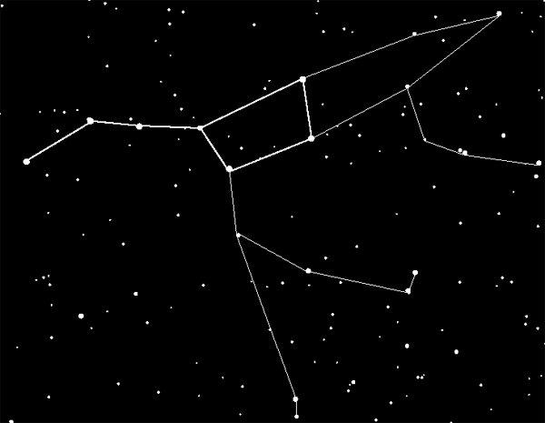 Смотрю я себе смотрю и вдруг замечаю в ковше медведицы звезду, яркую звезду.  Любой знает что в ковше медведицы нет...